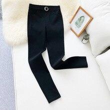 Wasteheart Autumn Winter Women Fashion Black Long Pants Pencil High Waist Female Formal Office Style Plus Size