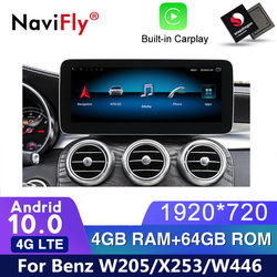 IPS Android 10 Car dvd radio Player GPS Navigation for benz C-Class W205/GLC-Class X253/V-Class W446 2015 2016 2017 2018 NTG 5.0