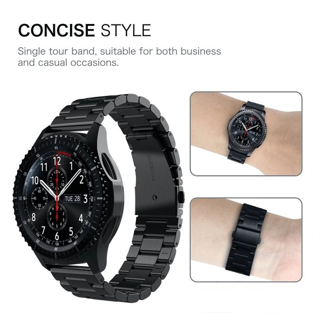 18mm 22mm 20mm 24mm Band Strap For Samsung Galaxy Watch 3 42 46mm gear S3 Active2 Steel for Huawei GT 2 Xiaomi Amazfit BIP GTR 2 6