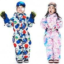 Зимние лыжные комбинезоны с капюшоном для девочек; ветрозащитные