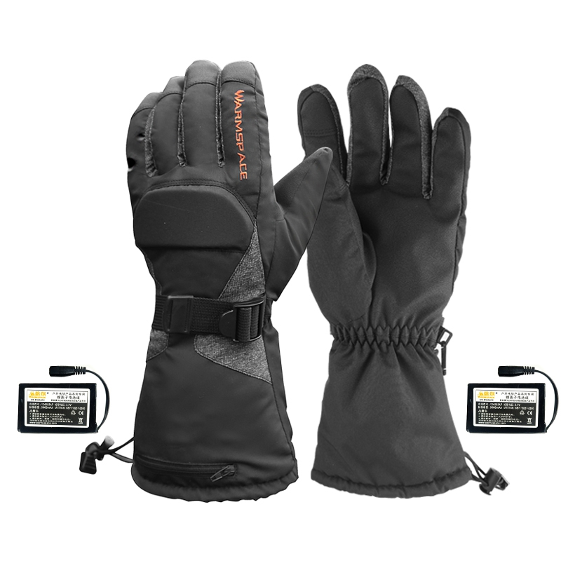 Warmspace Electric Heated Gloves With Rechargeable Battery Thermal Heated Gloves For Men Women Waterproof Ski Warm Glove