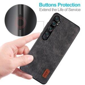 Image 2 - Mofi สำหรับ Xiao Mi cc9 Pro สำหรับ Mi Note 10 Pro ฝาครอบซิลิโคนกันกระแทกกางเกงยีนส์หนัง PU สีดำ TPU Mofi ต้นฉบับ