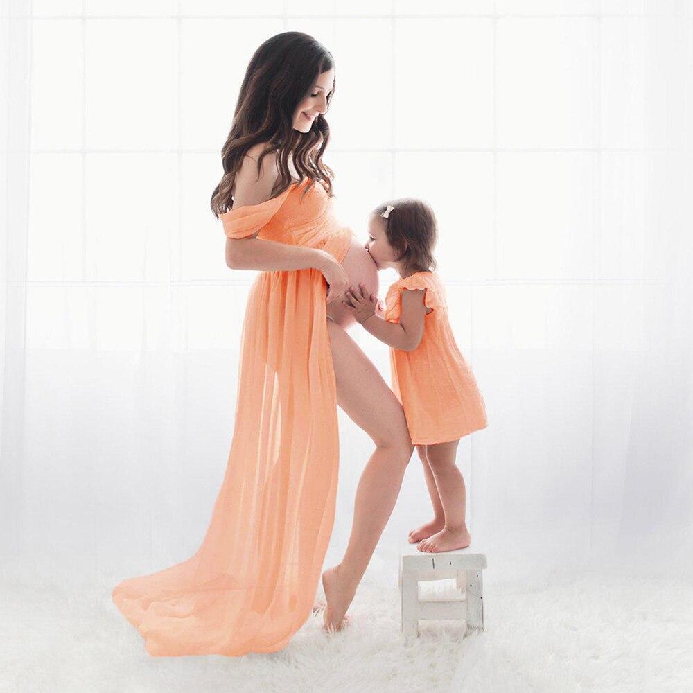 Schulterfrei Mutterschaft Kleid Für Fotografie Sexy Vorder Split Schwangerschaft Kleider Für Foto Schießen Weiß Schwangerschaft Maxi Kleid Frauen