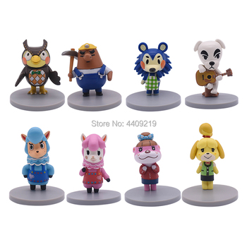 68pcs set mini animal world zoo simulated solid dinosaur model set toys boys action figures cartoon collection children toy gift 8Pcs/Set New Animal Crossing Action Figures Tom Nook Mabel Resetti Isabelle K.K Pvc Toy Model Toys Collection Cartoon Cute