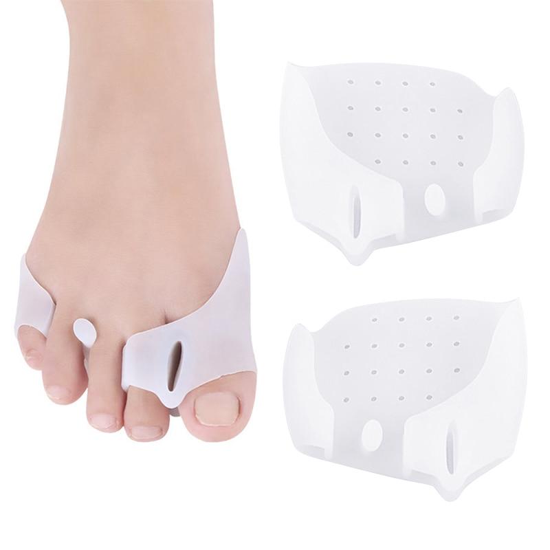 Новая одежда для маленькой девочки 2 шт./компл. корректор защита для пальца ноги силиконовые корректор для большого пальца стопы можно Thumb ...