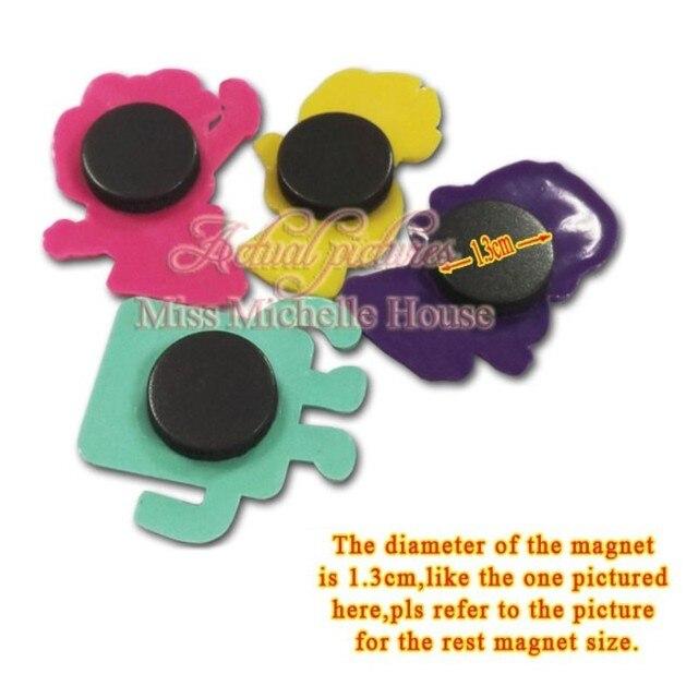 1pcs Pvc Cute Cartoon Figure lovely Animals Fridge Magnet Decor Magnets for Refrigerators Home Decoration Accessories 2