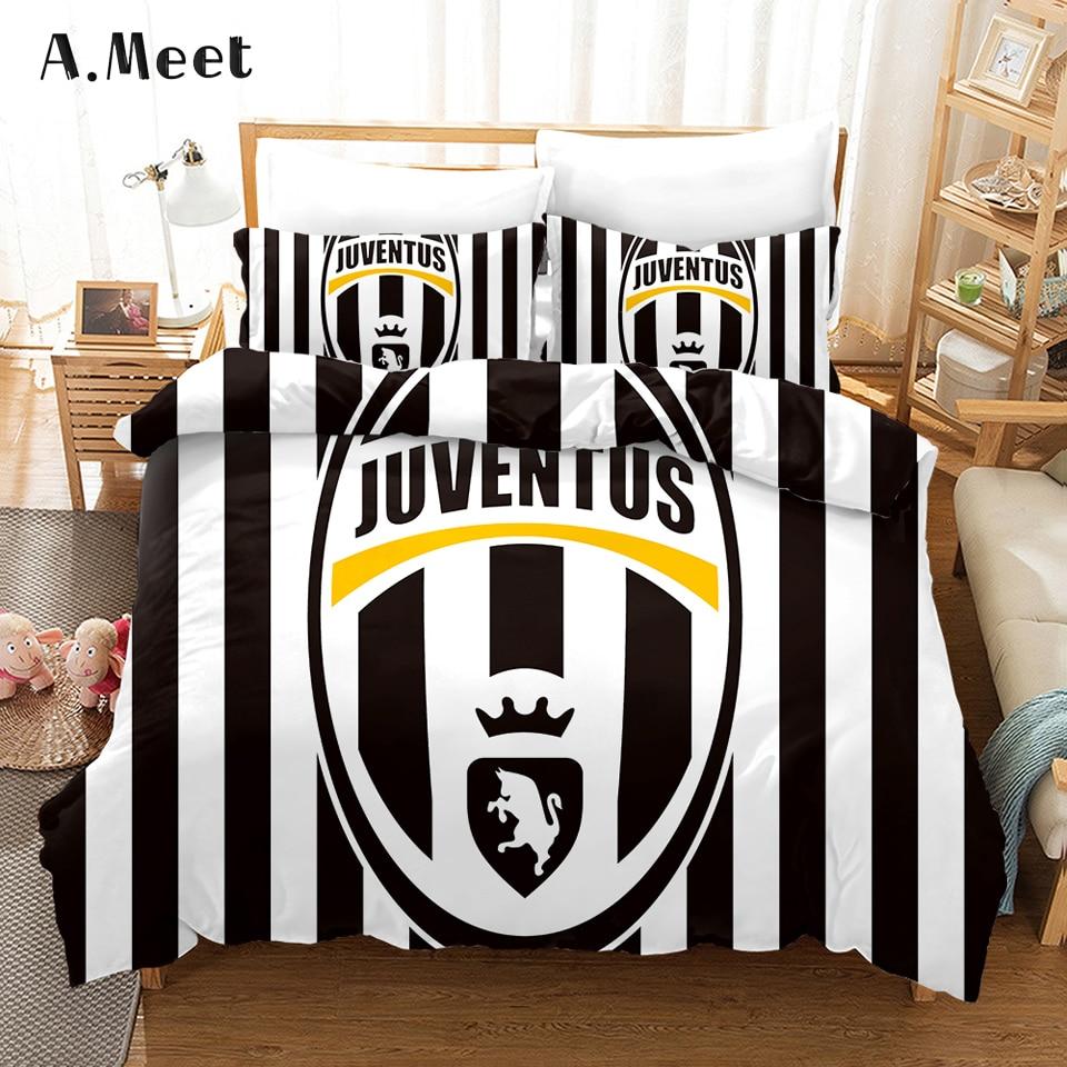 Football Club Bed Sets Linen 3d Bedding Set King Size Comforter Set Twin Single Duvet Cover NO Bed Sheets Jogo De Cama Casal 3pc