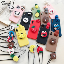3D cartoon Stand phone holder case For Huawei