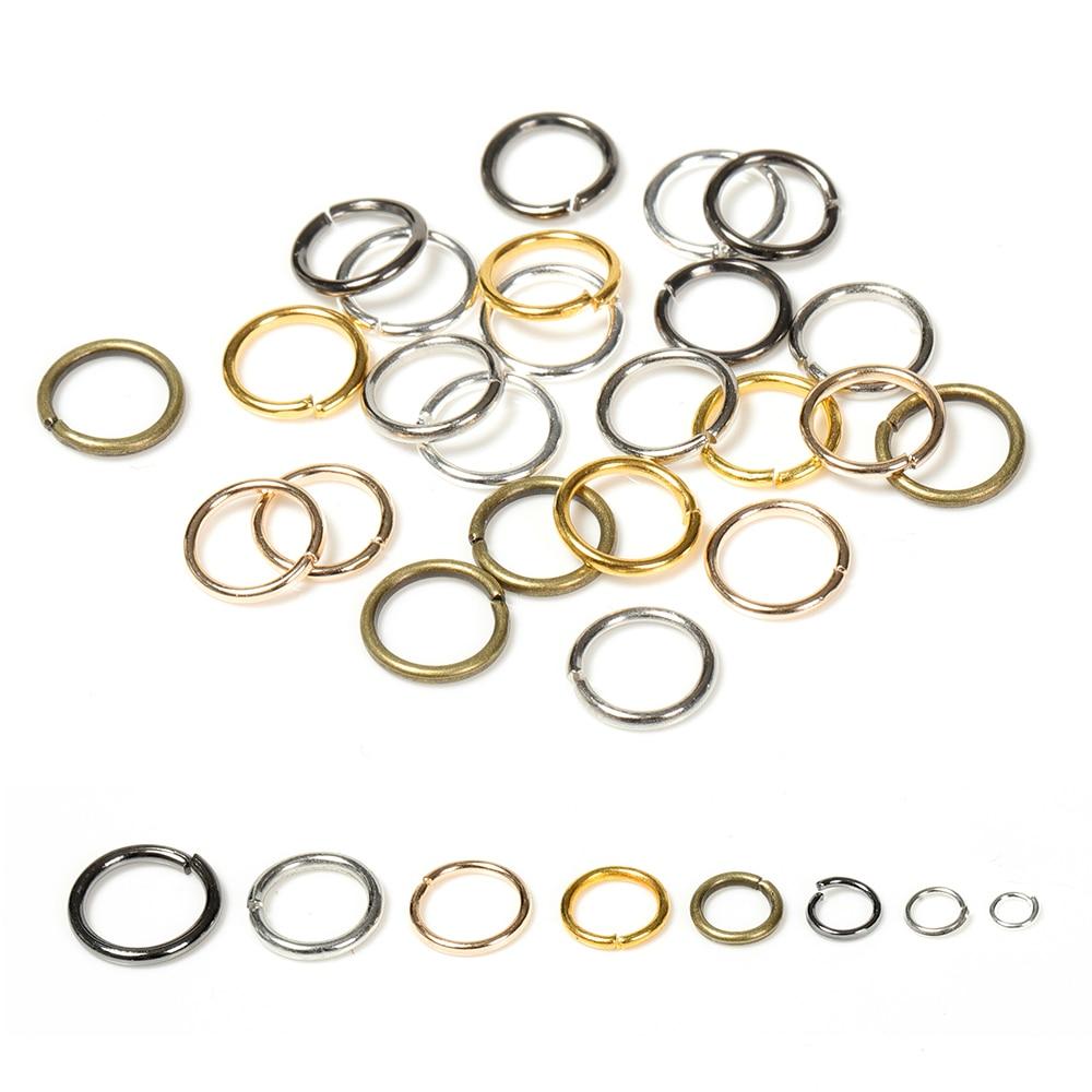 200pcs/lot Dia 4-10mm Wholesale Gunblack/Antique Bronze/Gold/Silver/Rhodium Jump Rings Jewelry Making Findings DIY Accessories