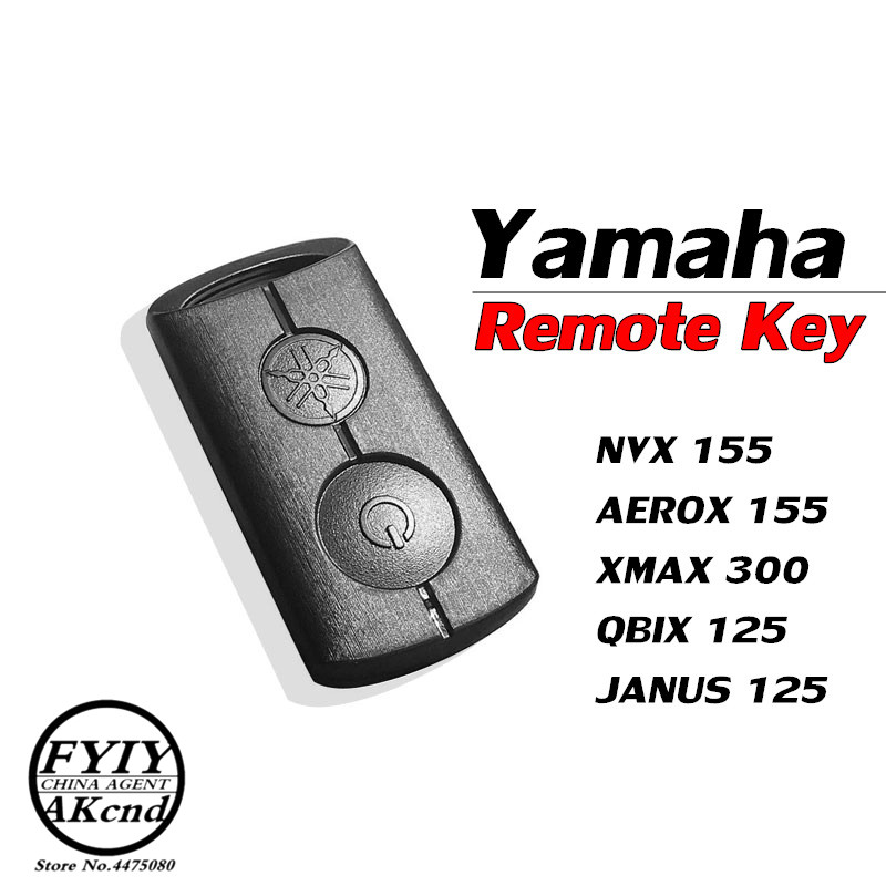 Motorcycle Remote Control Key Anti-theft Remote Control Key For Yamaha Nmax Nvx 155 Xmax 300 JANUS QBIX 125 Original Key Remote