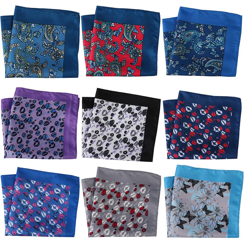 30CM Width Mens Pocket Squares Men's Handkerchief Floral Paisley Mens Scarf Pocket Hankies Chest Towel Wedding Party 27 COLORS