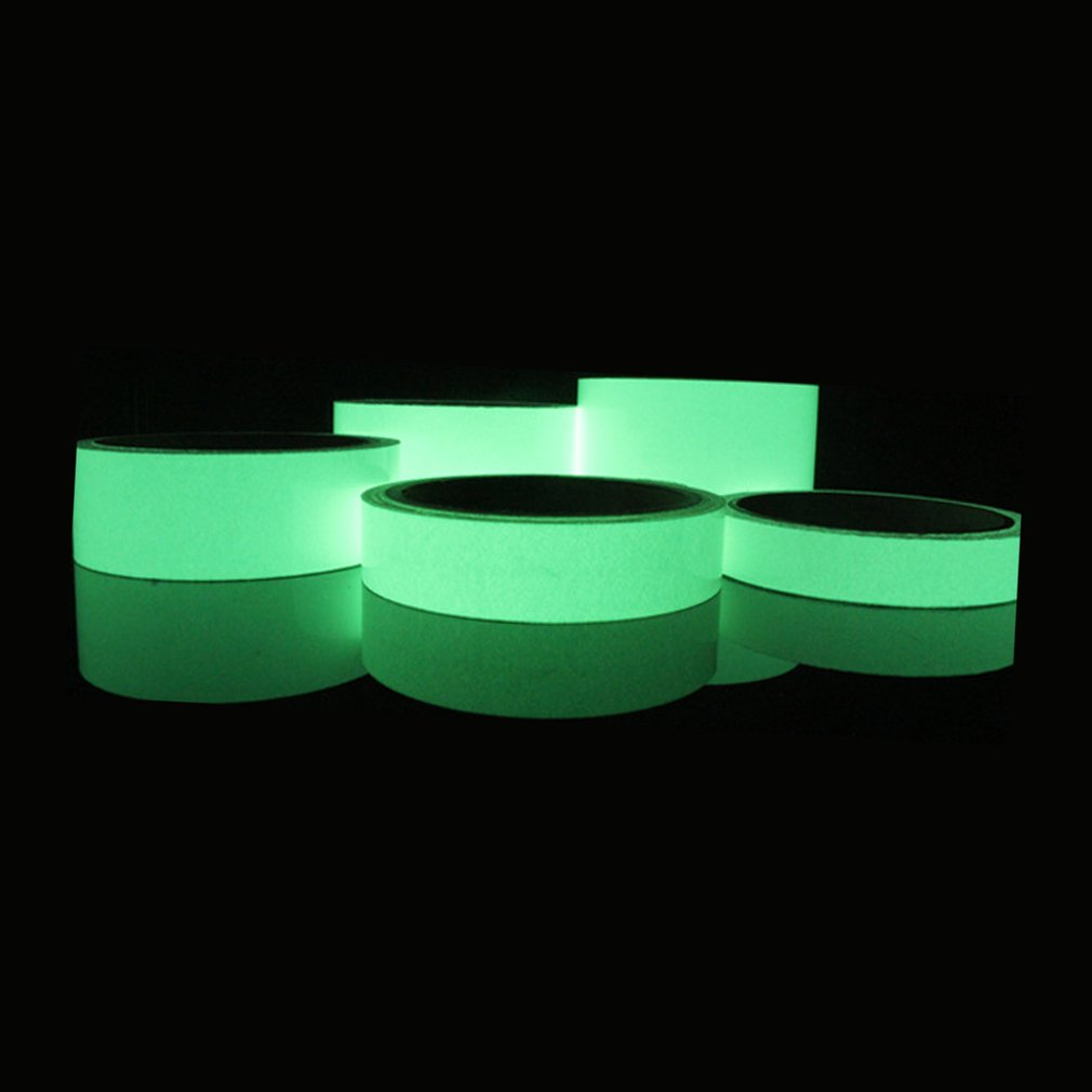 Reflective Glow Tape Self-adhesive Sticker Removable Luminous Tape Fluorescent Glowing Dark Striking Warning Tape Dropshipping