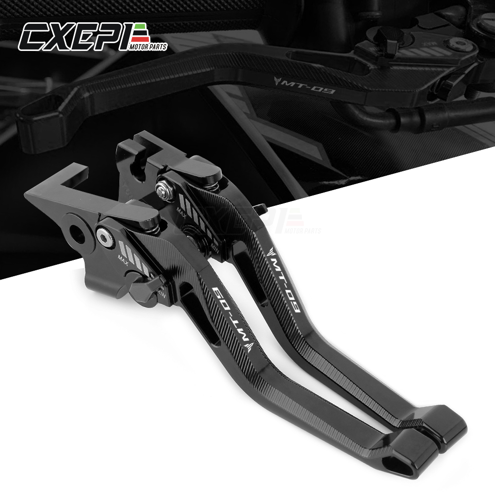 2019 New logo Adustable Brake Clutch Levers For YAMAHA MT09 MT-09 MT 09 FZ09 Tracer XSR900 2014-2019 Motorcycle Accessories(China)