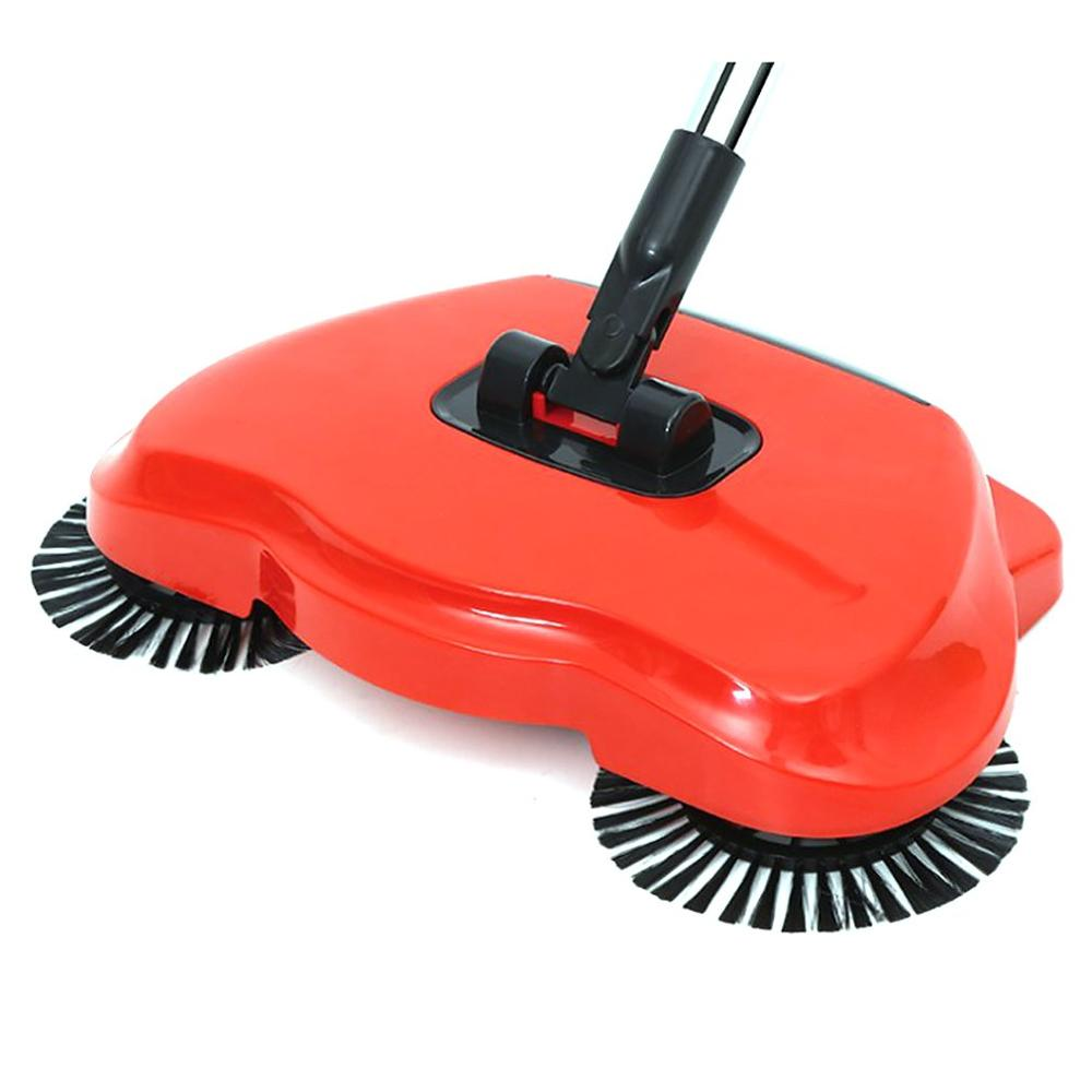 Sweeping Machine Magic Carpet Sweeper Push Type Spin Broom Mopping Machine Handle Household Cleaning Hand Push Sweeper title=