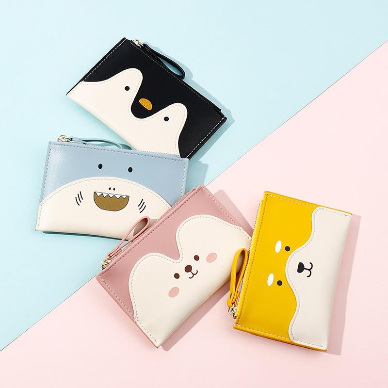 Корейский милый смайлик, Женский стандартный короткий кошелек из искусственной кожи, кошелек для монет, кошелек для ключей для женщин, повседневный клатч, кошельки, оптовая продажа Кошельки    АлиЭкспресс