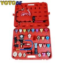 34 Pcs Radiator Druk Compressie Tester Auto Reparatie Water Tank Nauwkeurige Gemakkelijk Te Gebruiken Koelsysteem Lek Detector