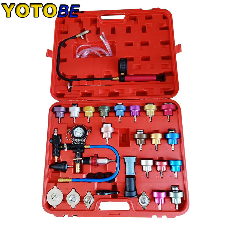 34pcs Radiator Pressure Compression Tester Car Repair Water Tank Accurate Easy To Use Cooling System Leak Detector|Instrument Tool|   - AliExpress