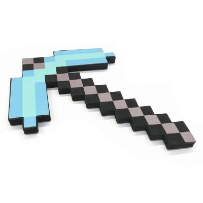 Newest Design Size 45cm Minecrafted Blue Diamond Sword Soft EVA Foam Toys Sword Gray Pickaxe For Children  Children Toys