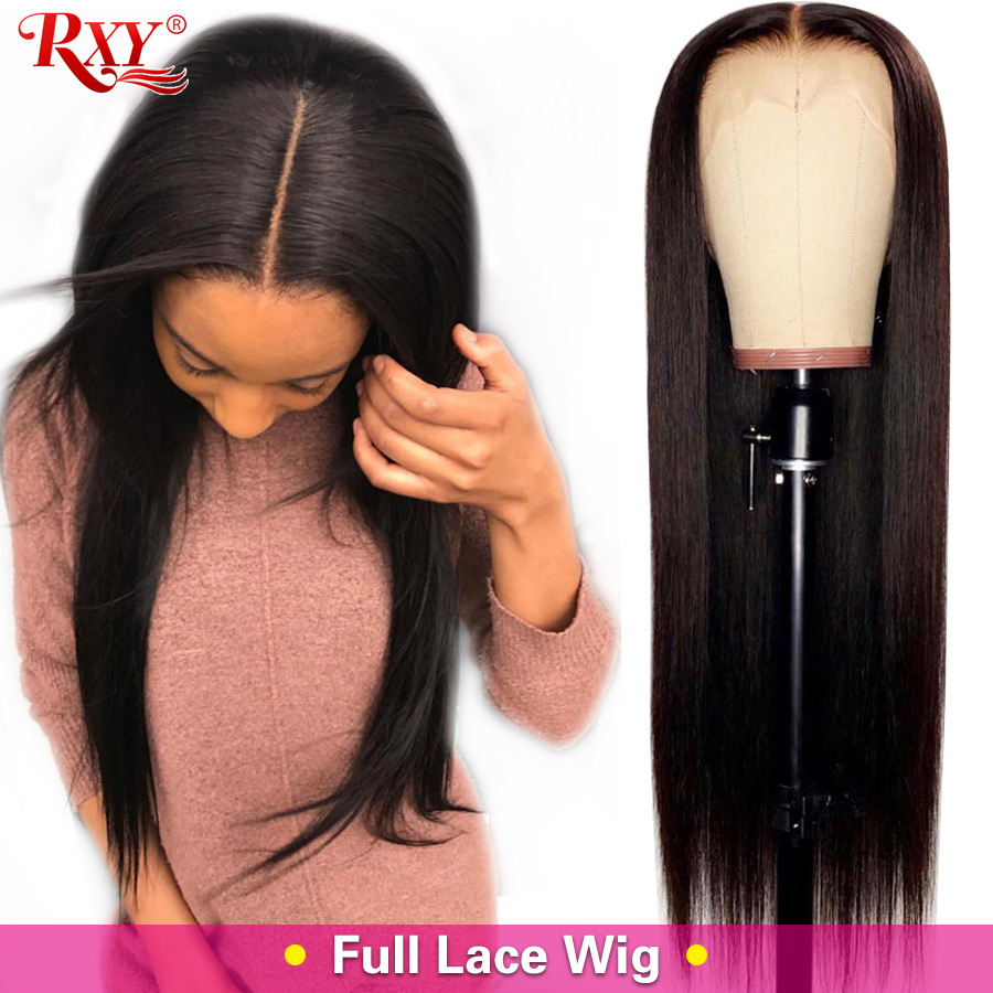 Straight Full Lace Human Hair Wigs Pre Plucked With Baby Hair Malaysian Remy Hair Full Lace Wigs For Women RXY Black Hair Wig