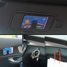 2 uds parasol de coche vasos Clip de cierre de coche negro tablero puerta adhesivo Clips para gafas de sol gafas billete tarjeta