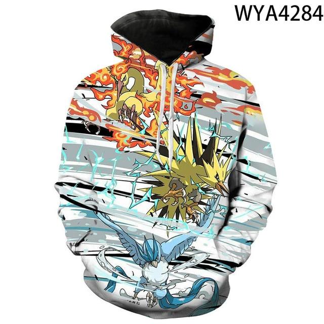 2020 new animated 3D printed hoodies men women children fashion hoodies pokemon boys girls kids sweatshirts street clothing 4