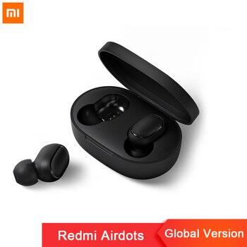 Airdots Instock Xiaomi Redmi Xiaomi fone de ouvido controle de Voz Sem Fio Bluetooth 5.0 de redução de Ruído Controle de Toque