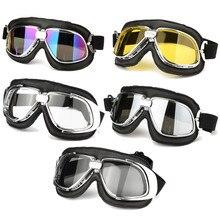 אופנוע משקפיים רטרו קסדת משקפי אופנוע UV בציר קלאסי משקפיים עבור Moto קטנוע טרקטורונים אופנוען עפר UTV