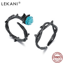 Lekani 925 серебряные кольца для женщин Романтический Синий