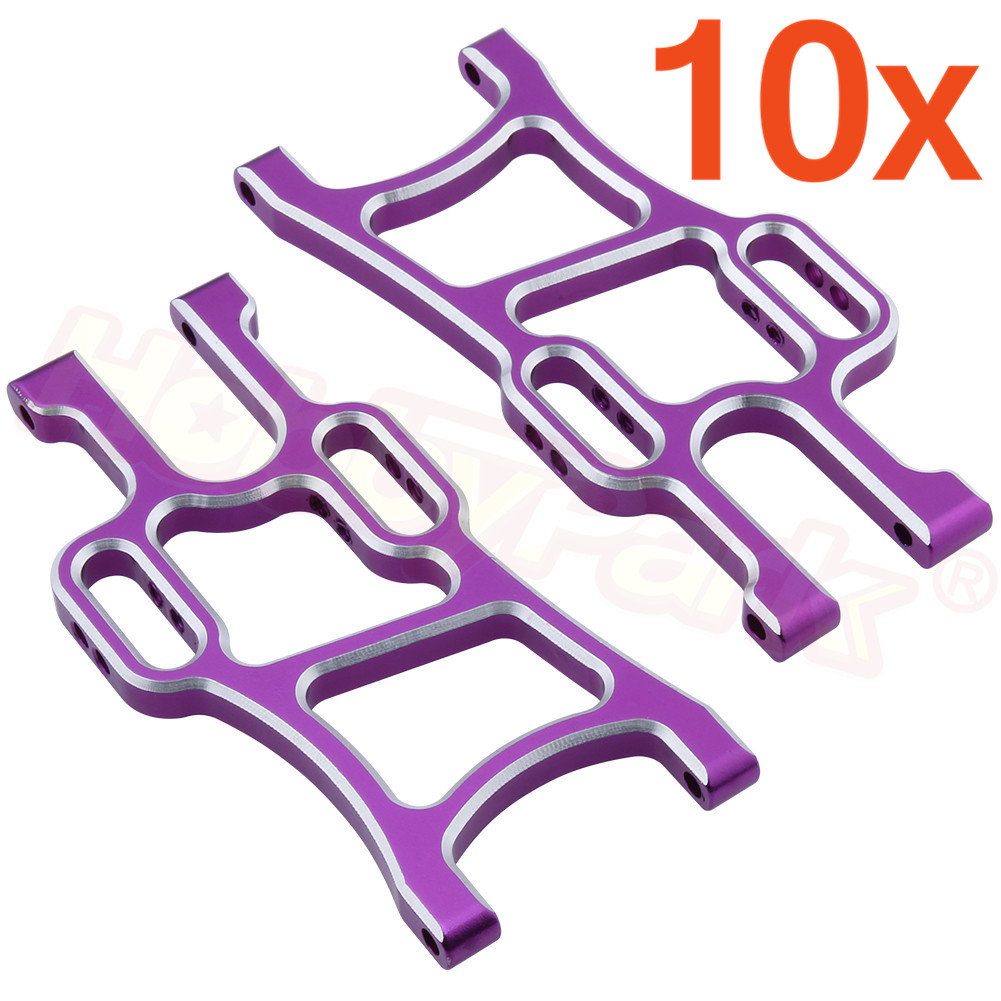 10Pairs HSP 1/10 Upgrade Parts 108019 Aluminum Front Lower Suspension Arm <font><b>108819</b></font> For Redcat Exceed Off Road Monster Trcuk 08005 image