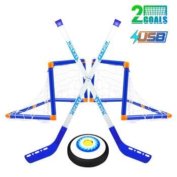 Mini Hockey Stick Set Ice Hockey Goals for Kids  Knee Hockey Set ,Hockey & Soccer Gifs For Boys - Sport Toys Power Training Ball