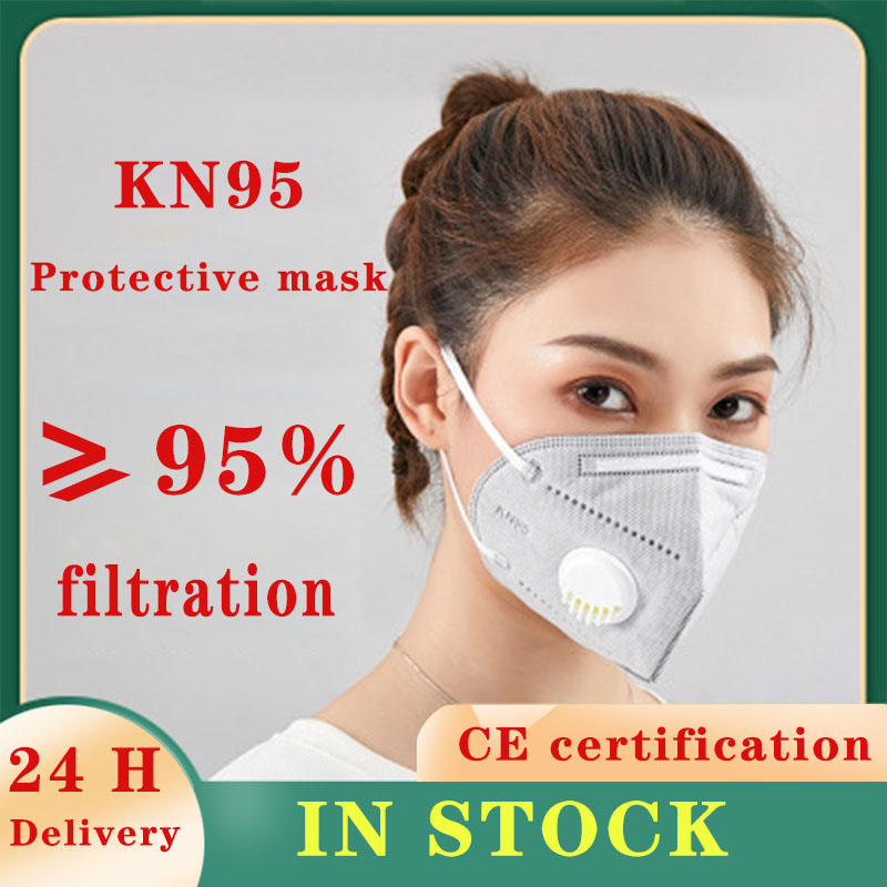 1PCS Reusable KN95 Mask Valved N99 Protection Face Mask FFP1 FFP2 FFP3 Face Mask N95 Anti Infection  Dust Masks 6 Layers Filter