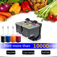 Refillable Ink Cartridge Replacement for HP 301 for HP DeskJet 1050 2050 3050 2150 3150 1010 1510 2540 Printer with 4 Color Ink
