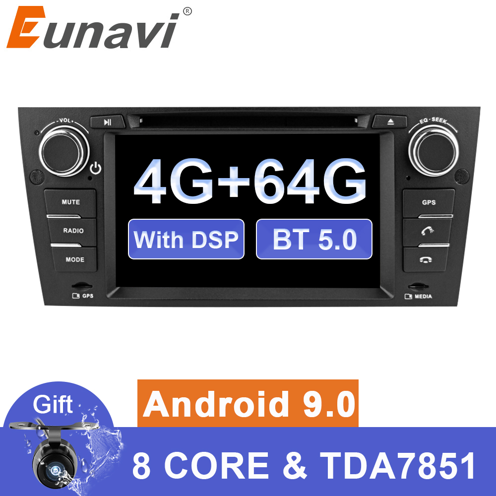 Eunavi 7'' Android 9 Auto Multimedia player Für 3 Serie BMW E90 E91 E92 E93 318 320 325 Auto radio dvd stereo gps 4G 64G TDA7851