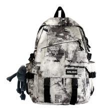 Men Harajuku Girls Cloud Print Backpacks Student Nylon Boy Laptop New 2021 Cool Badge Book School Trendy For Teenage Bags