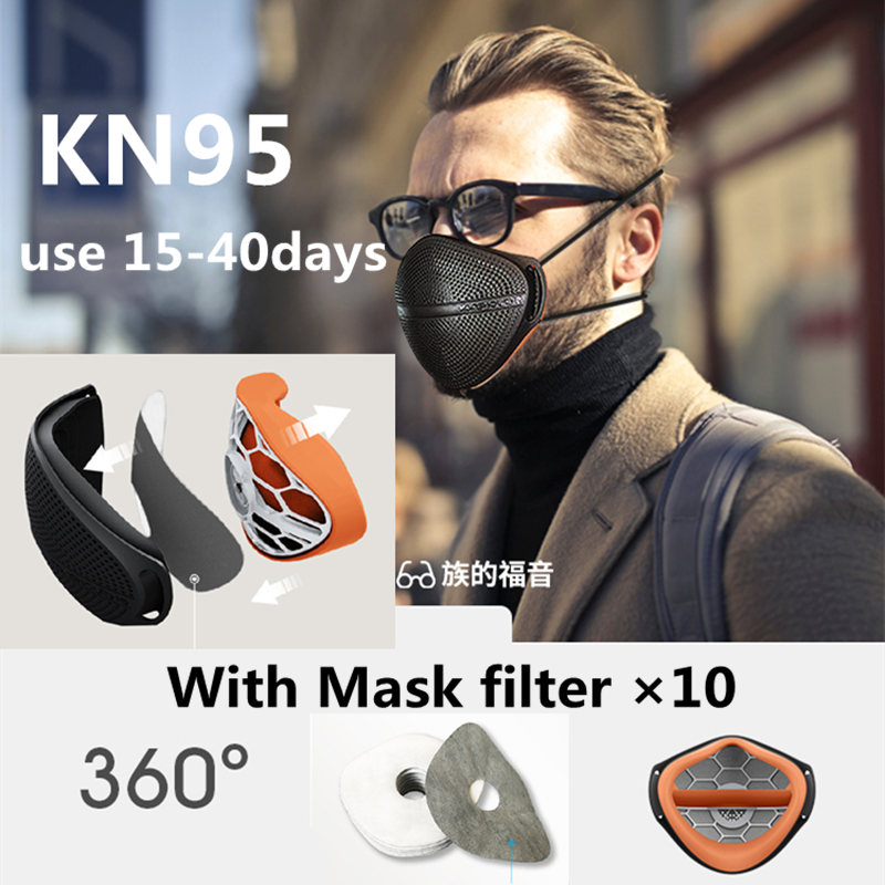 KN95 Masks Anti-Dust Protective Mask PM2.5 Safety Masks Mouth Nose Disconnect-type For Dust Particulate Pollution N95 Protection