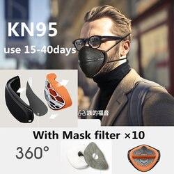 Máscara protectora antipolvo KN95 PM2.5, máscaras de seguridad, tipo de desconexión de la nariz y la boca para la protección contra la contaminación de partículas de polvo N95