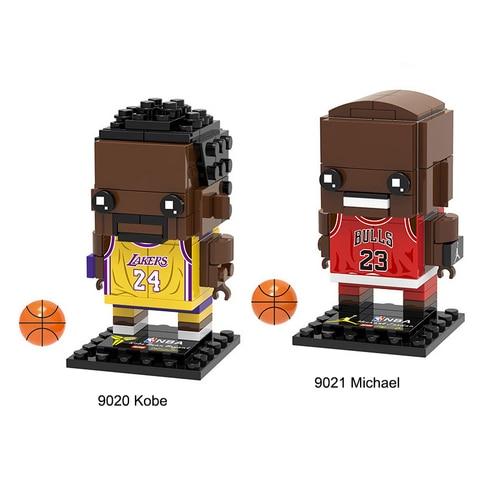 nova estrela de basquete mini bloco brickheadz bonito boneca bircks headz blocos de construcao bonito