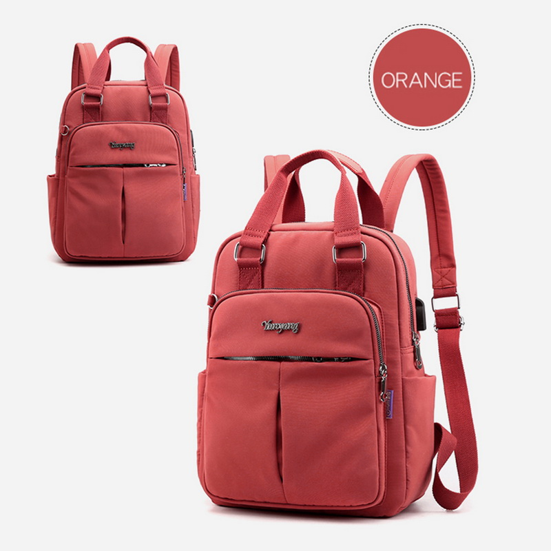 Hd297fc10ca8c45f8997c79ddffc2cb3es - New Waterproof Nylon Backpack for Women Multi Pocket Travel Backpacks Female School Bag for Teenage Girls Dropshipping