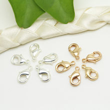 20 pçs de metal lagosta fecho gancho salto anéis jóias descobertas diy fazendo colar pulseira fivela jóias acessórios