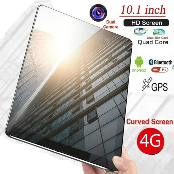 10.1 Inch 10 Core 6G+128G Android 8.0 WiFi Tablet PC Dual SIM Dual Camera Rear 5.0MP Bluetooth  WiFi Call Phone Tablet Gift 2020