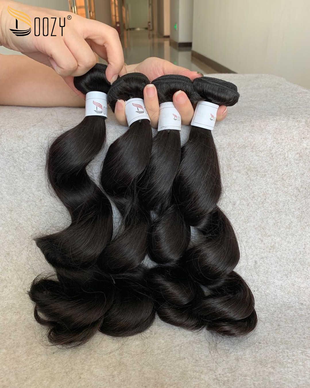 Pelo Doozy onda suelta 10A pelo virgen peruano 4 paquetes de cabello humano virgen