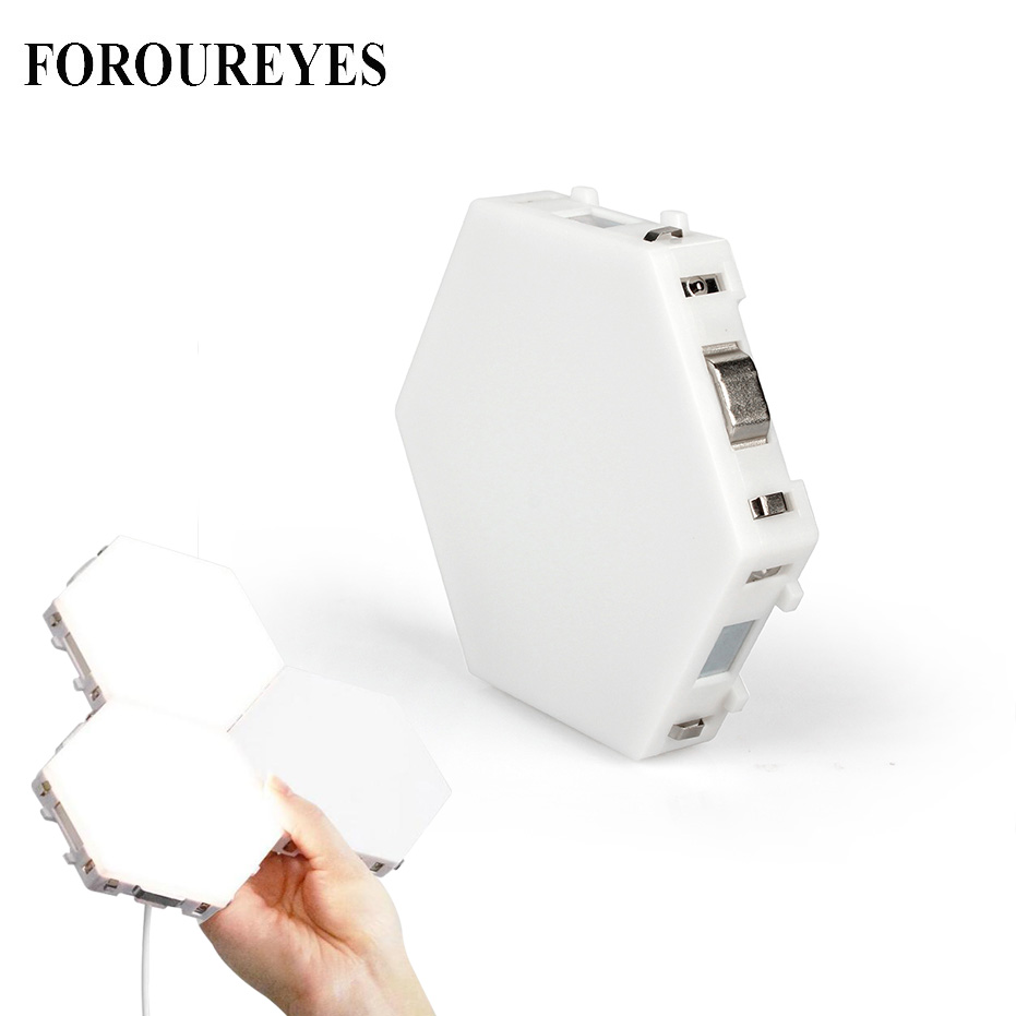 DIY Hexagonal Wall Lamps Touch Sensitive Quantum Lamp Assembly Modular LED Lighting Creative Night Lights For Home Decor