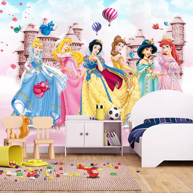 Custom Mural Wallpaper For Kids Room 3D Cartoon Bear Animal Pink Princess Room Boys Girls Bedroom Wall Decor Photo Wall Painting
