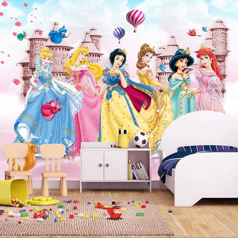 Custom Mural Wallpaper For Kids Room 3D Cartoon Bear Animal Pink Princess Room Boys Girls Bedroom Wall Decor Photo Wall Painting