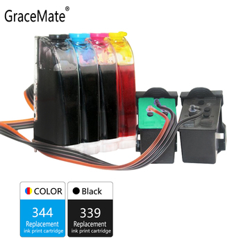 GraceMate 339 344 Ciss Bulk Ink  Compatible for Hp for DeskJet 5740 5940 6540 6620 6840 6940 6980 9800 6313 7110 7130 Printers