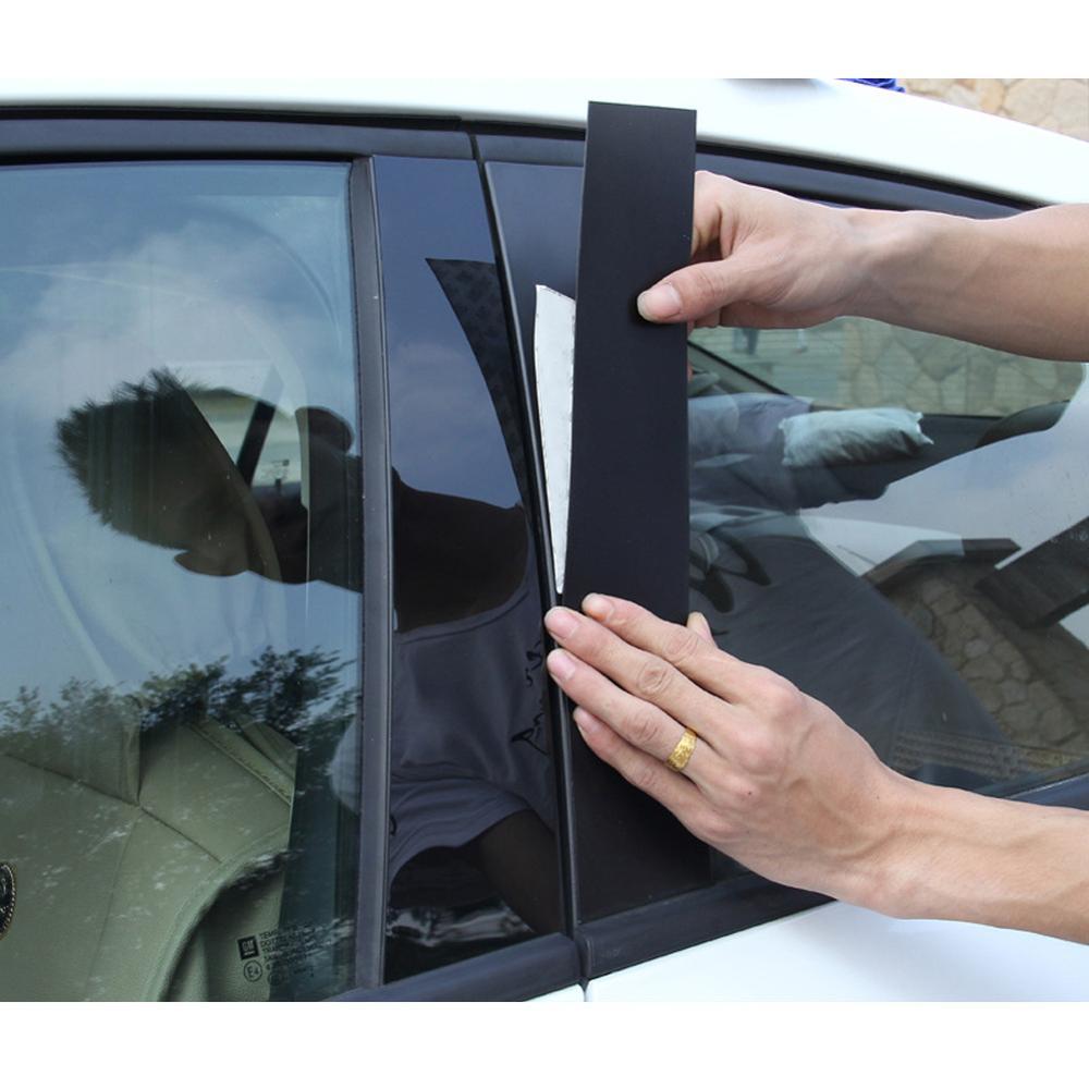 6 sztuk okno centrum B C filar nakładki naklejki wykończeniowe lusterko samochodowe efekt okno filar wykończenia odlewnictwo dla Honda Accord 2013-2017