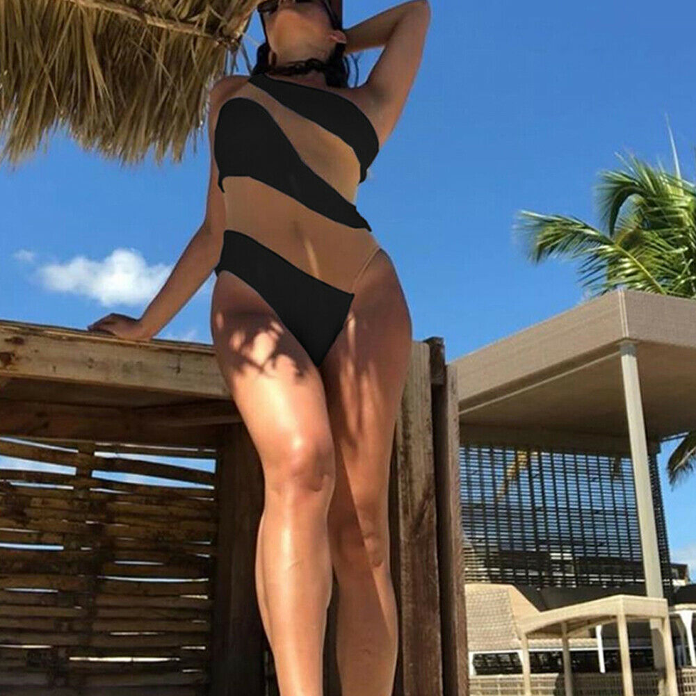 2019 Fashion Trend Women's One Piece Beach Swimsuit Swimwear Bathing Monokini Push Up Padded Bikini Hot Summer Sexy Holiday Wear-5