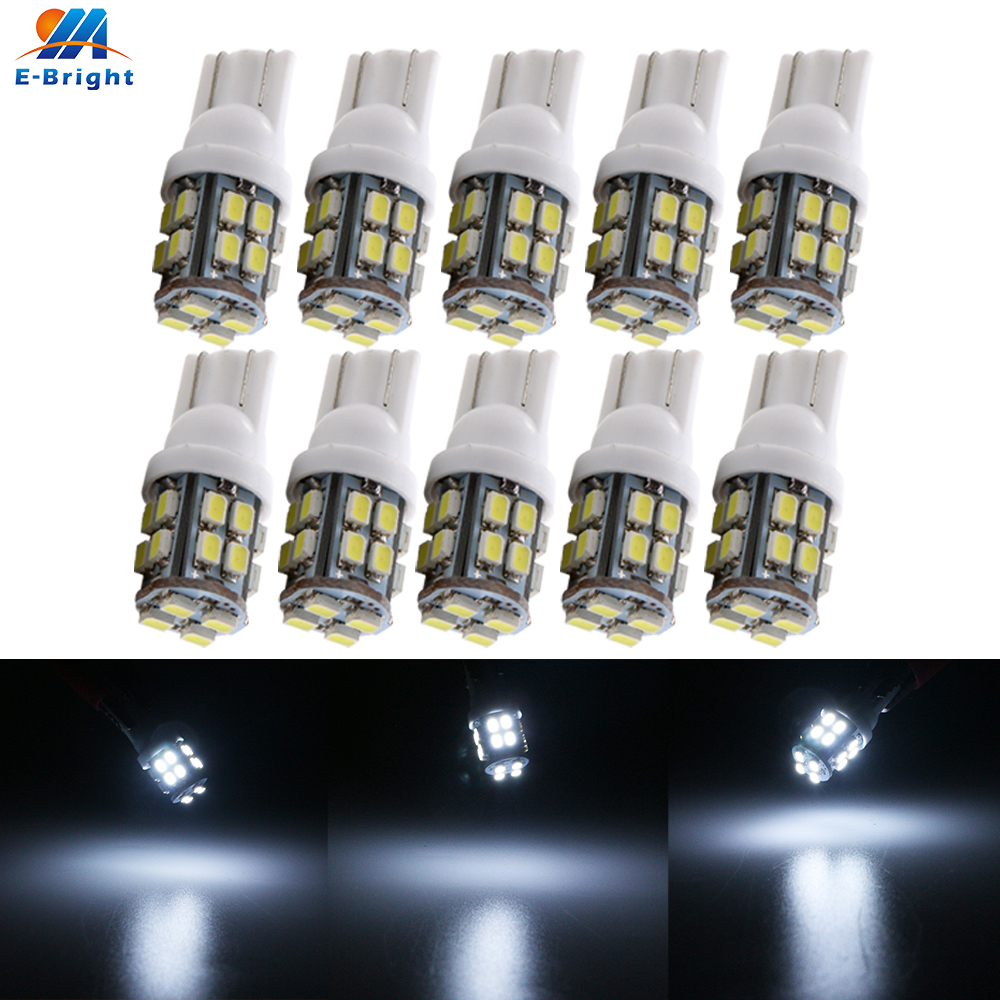 10X 50X 200X 24V DC <font><b>T10</b></font> 1206 20 SMD <font><b>Led</b></font> <font><b>Bulbs</b></font> W5W 194 160LM <font><b>Car</b></font> Light Width door side marker Clearance Instrument Reading Light image