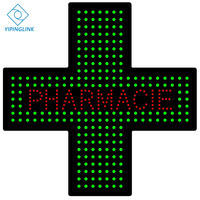 Pharmacie pharmace farmacia LED cross sign with words 48*48cm size high quality marterial and LED bead with good design
