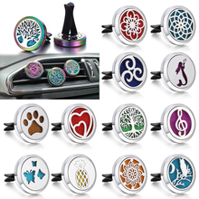 New Tree of Life Aromatherapy Jewelry Car Perfume Diffuser Vent Freshener Essential Oil Clip Lockets